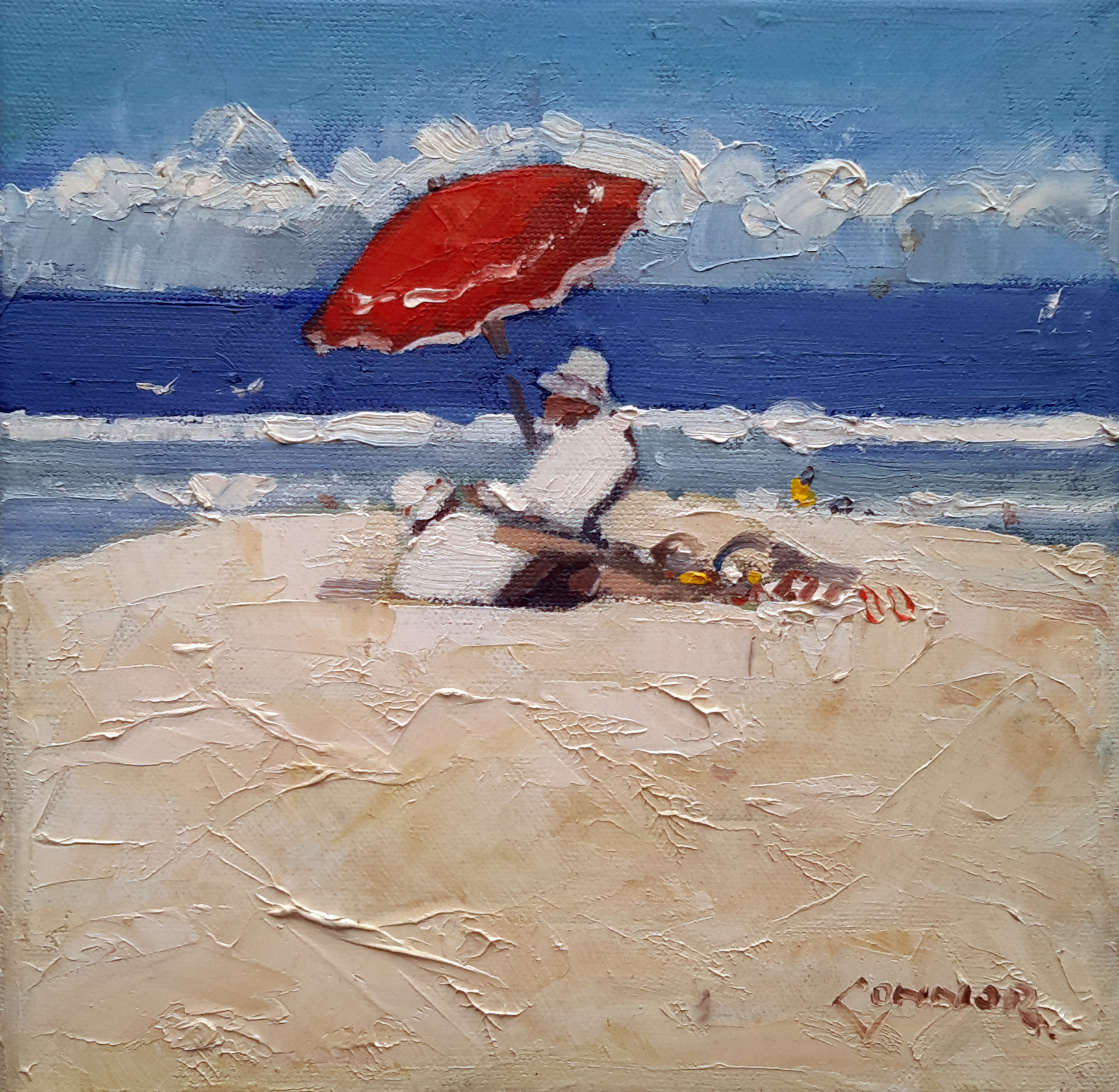 Neville Connor - Fine Arts Studio - The red umbrella