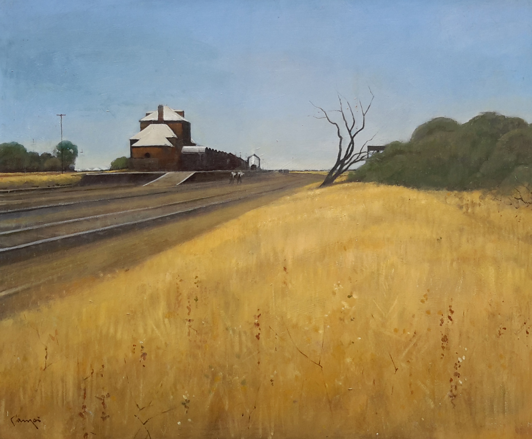 Neville Connor - Fine Arts Studio - End of the Line, Hay
