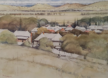 Neville Connor - Fine Arts Studio - Across the valley